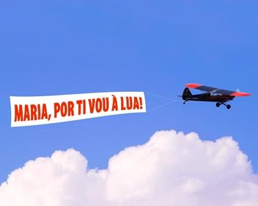 Mensagem Pessoal em Avião