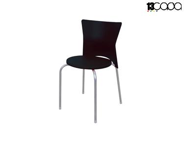 Conjunto de 4 Cadeiras | Preto