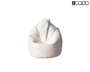 Puff em Nylon Bean Bag | Branco