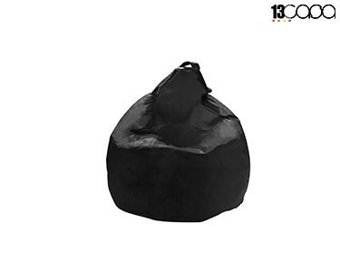 Puff em Nylon Bean Bag | Preto