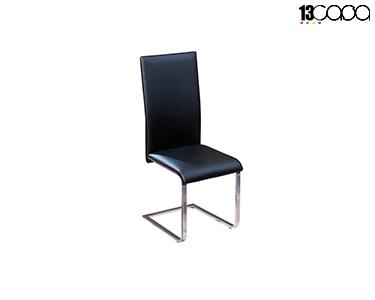 Cadeira Dublino 1 Eco-Couro | Preto