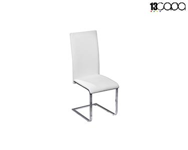 Cadeira Dublino 2 Eco-Couro | Branco