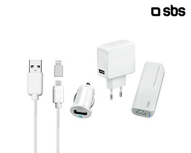 Kit SBS | PowerBank | Cabo Dual c\ Adpatador | Carregador Isqueiro e Casa