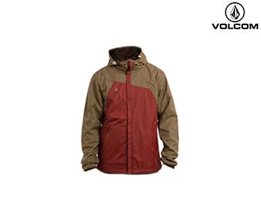 Corta-Vento Volcom® Raingo Lined | Vermelho e Castanho