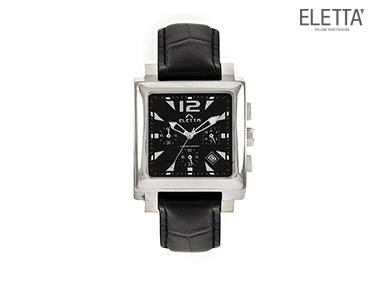 Relógio Eletta® Lisboa | Preto e Prateado