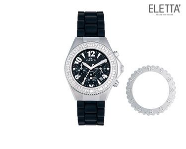 Relógio Eletta® Vilamoura | Preto e Prateado
