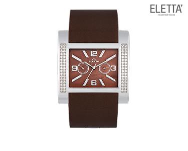 Relógio Eletta® Slide | Castanho c/ Brilhantes