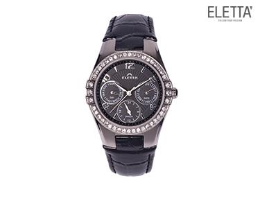 Relógio Eletta® Portofino | Preto c/ Brilhantes