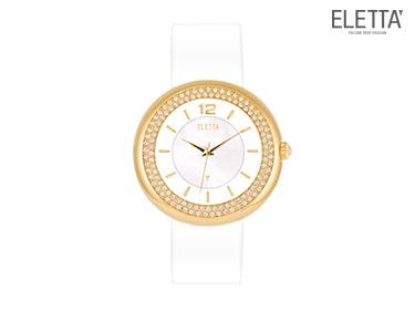 Relógio Eletta® Paris | Branco e Dourado c/Brilhantes