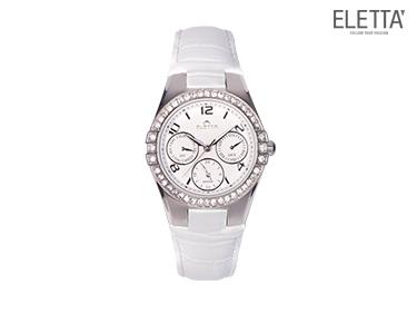 Relógio Eletta® Portofino   Branco c/ Brilhantes