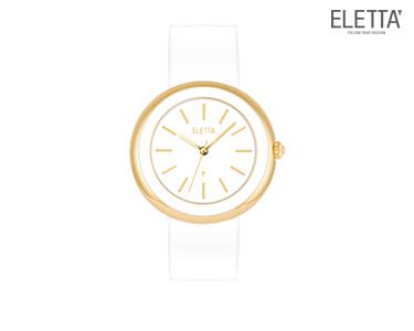 Relógio Eletta® Paris | Branco e Dourado