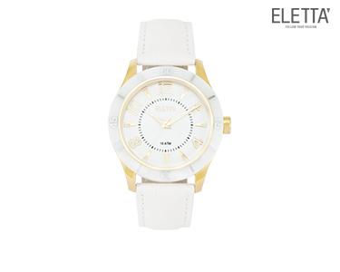 Relógio Eletta® Pure | Branco e Dourado