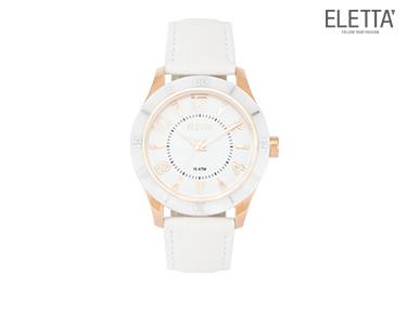 Relógio Eletta® Pure | Branco e Bronze