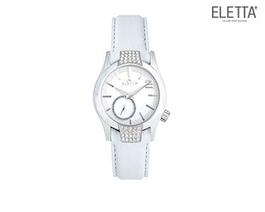 Relógio Eletta® Glam | Branco c/ Brilhantes