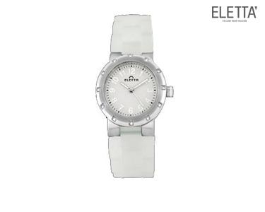 Relógio Eletta® Marbella   Branco e Prateado