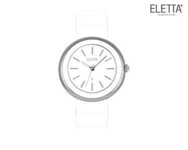 Relógio Eletta® Paris | Branco e Prateado