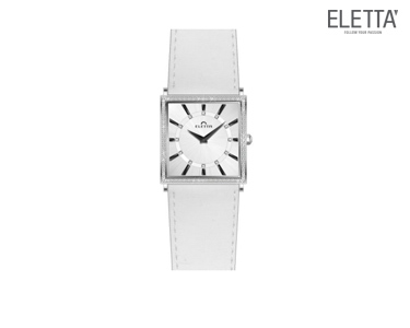 Relógio Eletta® Ferrara   Branco e Dourado