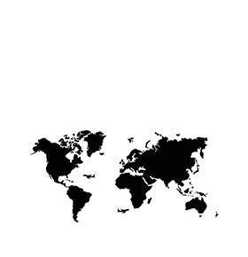 Mapa Mundo Vinil | 115 x 58cm