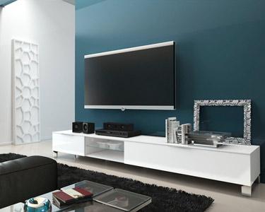 Móvel TV Ribalta com 2 Portas e 1 Prateleira | 210 cm
