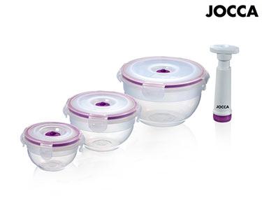 Conjunto de 3 Recipientes Jocca® c/ Bomba de Vácuo