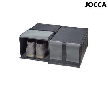 Conjunto de 2 Organizadores Jocca® p/ Armário | Preto