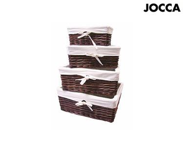 Conjunto de 4 Cestas em Mogno Jocca® | 4 Tamanhos