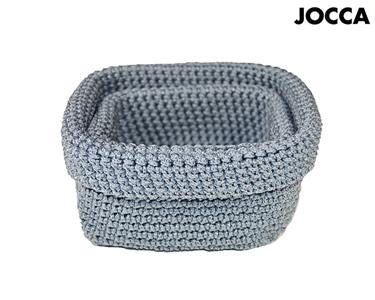 Conjunto de 2 Cestos em Crochet Jocca® | Escolha a Cor