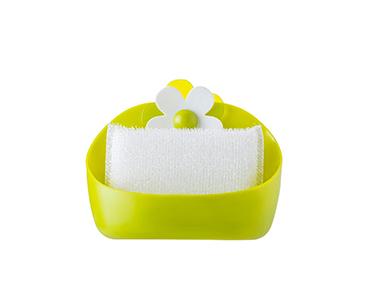 Recipiente c/ Esponja Vigar® | Verde e Branco