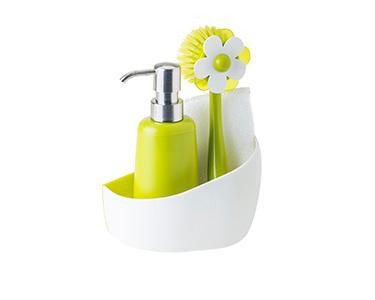 Conjunto Lava Loiça c/ Dispensador Vigar®   Verde e Branco