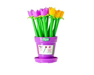 Porta Canetas c/ 15 Unid. Vigar® Flower Shop Túlipas