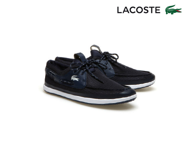 Sapatos de Vela Lacoste® L.AndSaling | Azul e Branco