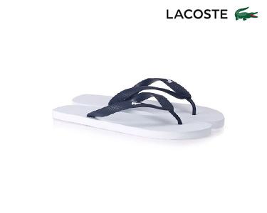 Chinelos Lacoste® Barona Homem | Branco e Azul