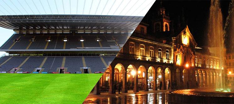 Bilhetes p/ o Jogo Braga-Benfica & 1 a 3 Nts no Villa Garden Braga 4*