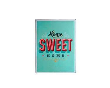 Placa de Metal Retro    Home Sweet Home