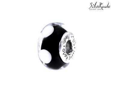 Conta Ebony Silverado® Cristal | Murano e Prata de Lei