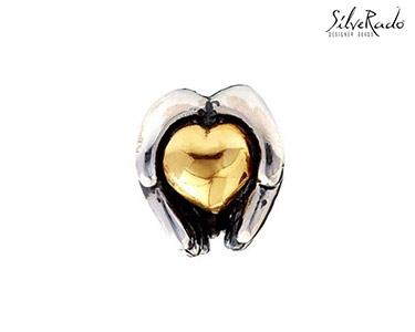 Conta Coração Silverado® | Ouro e Prata de Lei