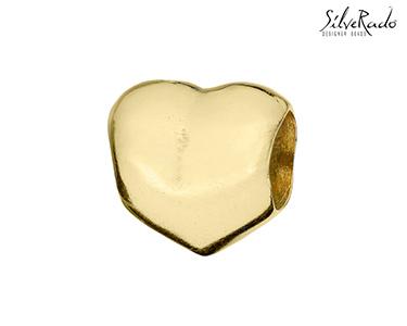 Conta Coração Dourado Silverado® | Prata de Lei