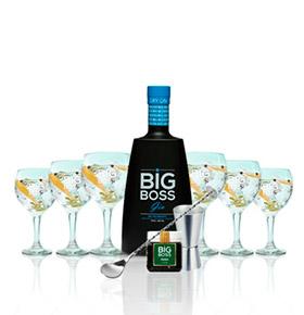 Gin Big Boss® Dry Premium   6 Copos & 4 Acessórios