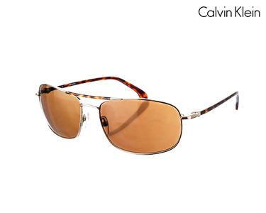 Óculos de Sol Calvin Klein® para Homem | Dourado-havana