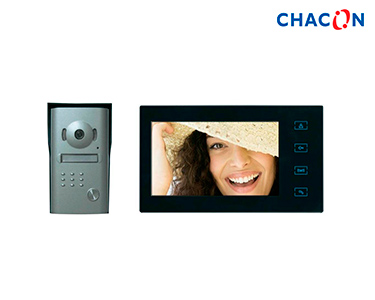 Chacon® VideoPorteiro Ecrã a Cores 7'   Botões Tácteis e  Mãos-Livres