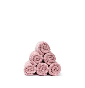6 Toalhas Casa Di Bassi® em Algodão R3050X6 | Rosa