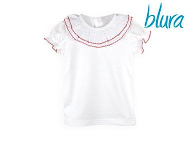 T-shirt Branca Blura® c/ Gola Vermelha | Escolha o Tamanho