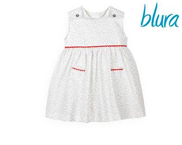Vestido Blura® Branco c/ Bordado Vermelho | Escolha o Tamanho