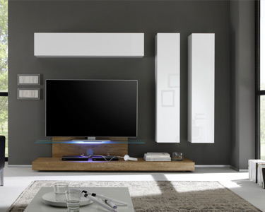 Móvel TV c/ Colunas Suspensas Living Cube | Escolha a Cor