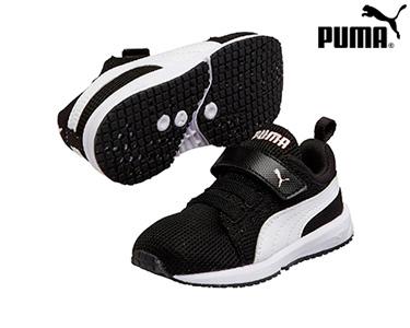 Ténis Puma® Carson Runner Preto e Branco | Infantil