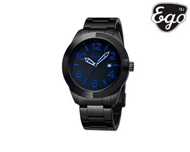 Relógio Woodstock Ego® |  Preto e Azul