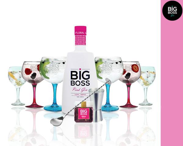 Gin Big Boss Pink®   6 Copos & 4 Acessórios