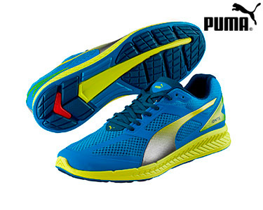 Ténis Puma® Ignite Mesh Azul e Amarelo   Homem