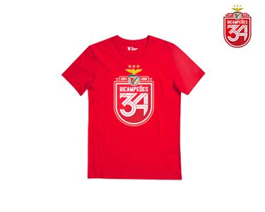 T-Shirt Bicampeão Vermelha  c/ Escudo 34