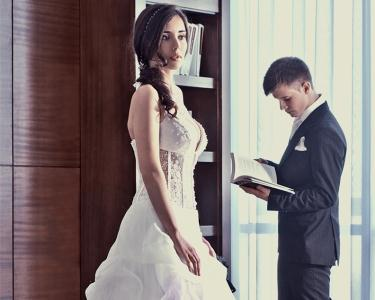 Vestido de Noiva à sua Medida com Véu